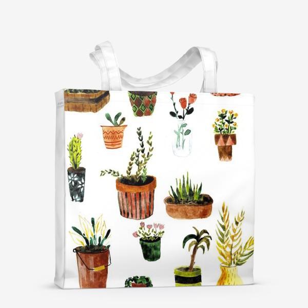Сумка-шоппер «Комнатные растения»