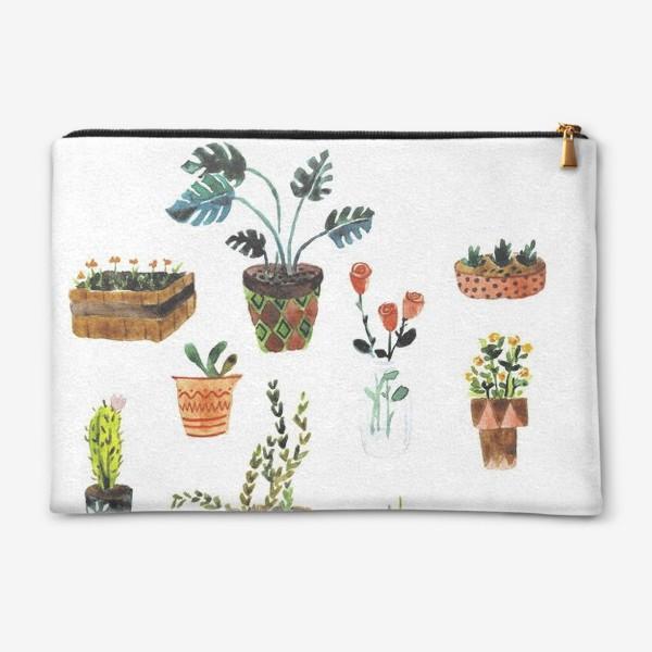 Косметичка «Комнатные растения»
