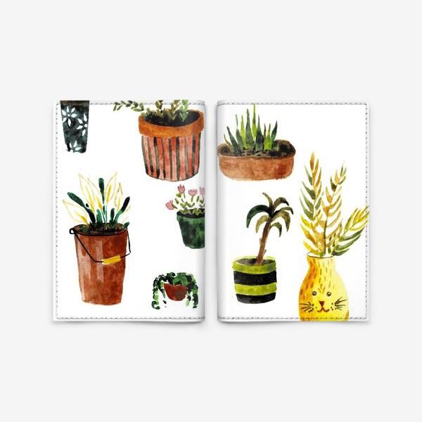 Обложка для паспорта «Комнатные растения»