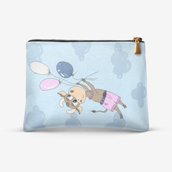 Косметичка «Коровка на воздушных шариках (подарок девочке тельцу) »