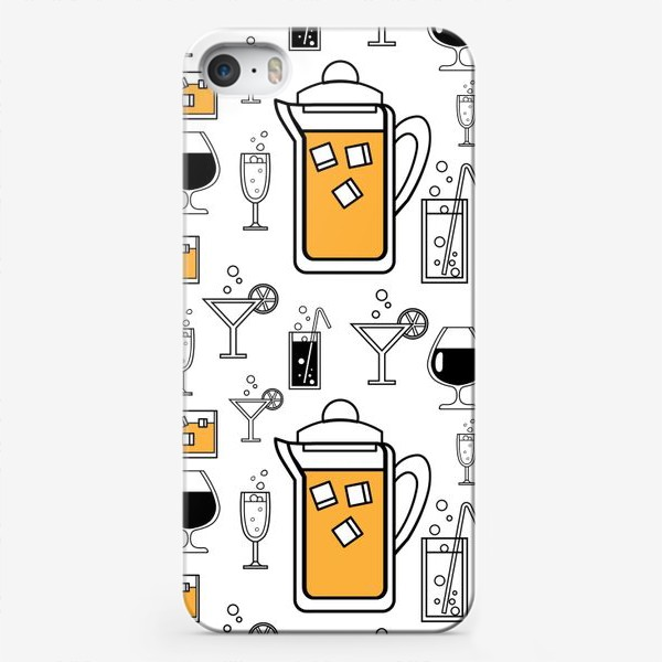Чехол iPhone «Напитки»