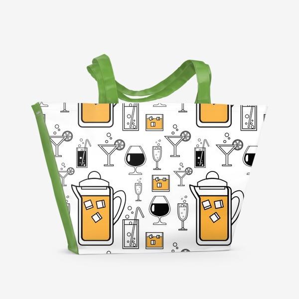 Пляжная сумка «Напитки»