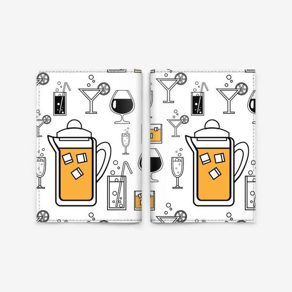 Обложка для паспорта «Напитки»