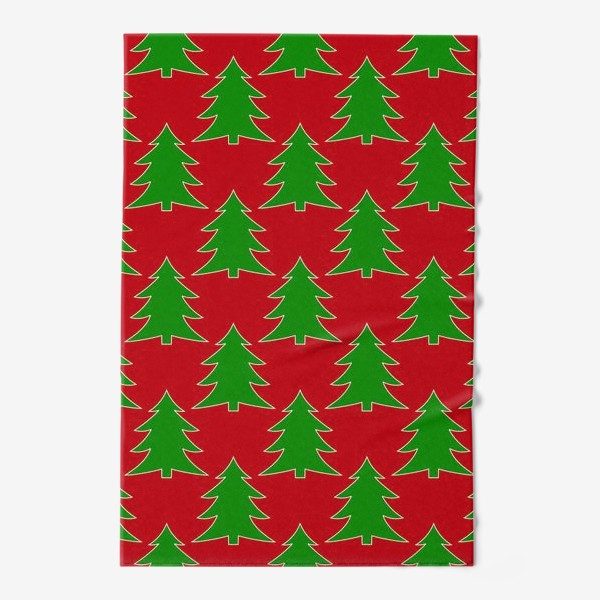 Полотенце «Новогодние елочки»