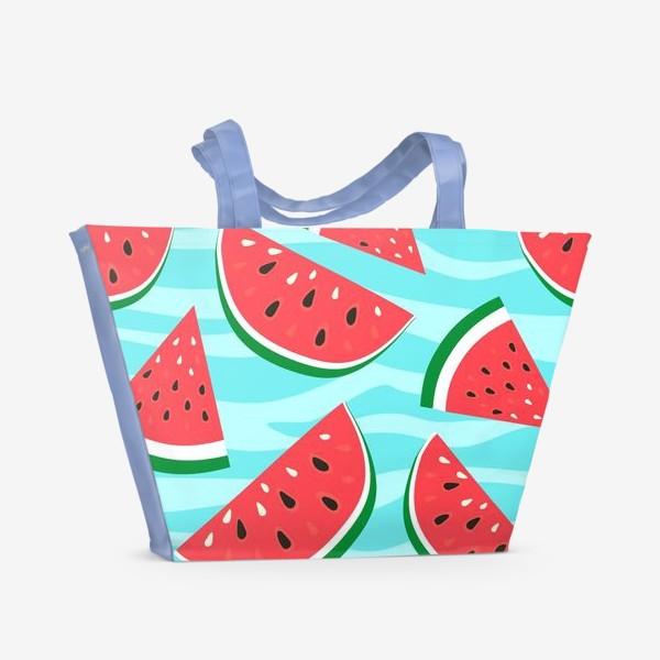 Пляжная сумка «Арбузный узор»