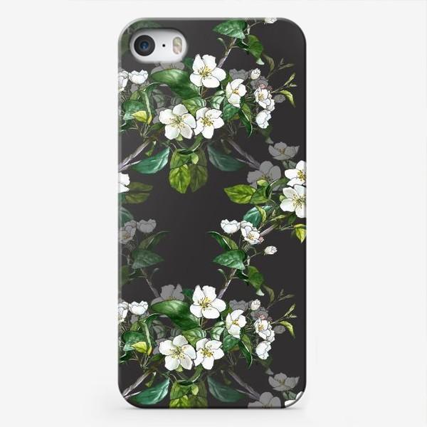 Чехол iPhone «паттерн с цветущей яблоней»