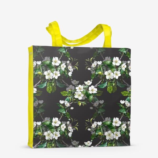 Сумка-шоппер «паттерн с цветущей яблоней»