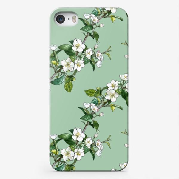 Чехол iPhone «яблоневый паттерн»