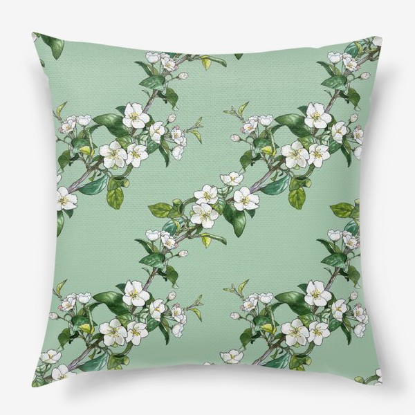 Подушка «яблоневый паттерн»