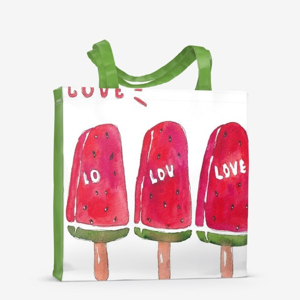 Сумка-шоппер «Мороженое из арбуза»