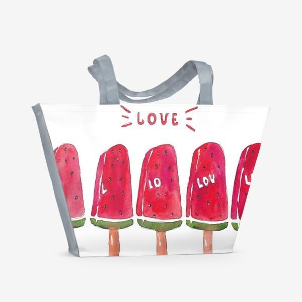 Пляжная сумка «Мороженое из арбуза»