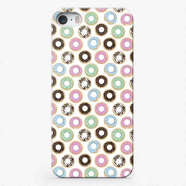 Чехол iPhone «donuts»