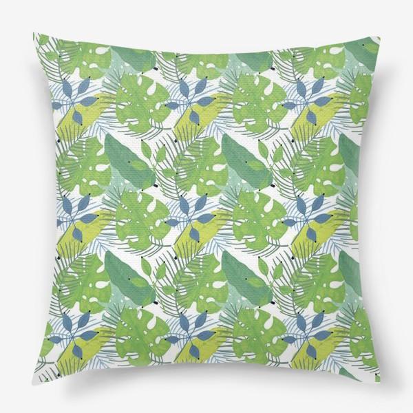 Подушка «Тропические растения»