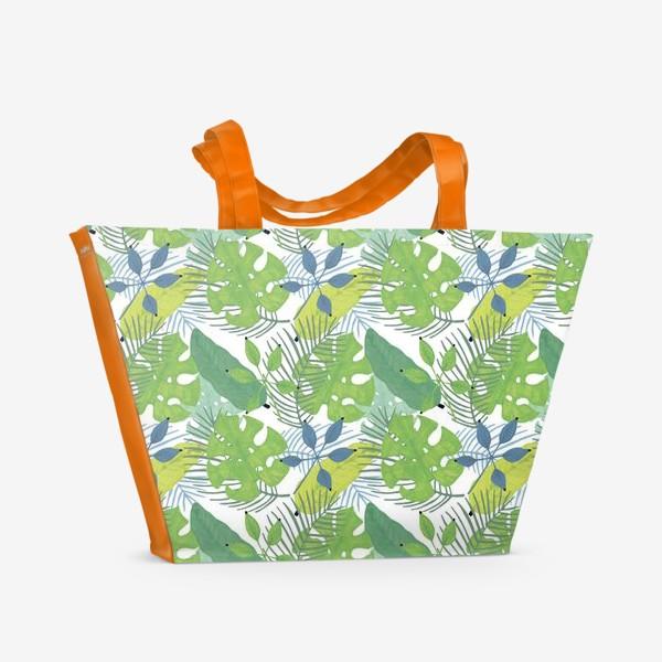 Пляжная сумка «Тропические растения»
