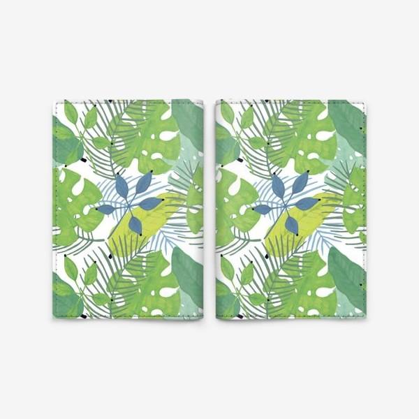 Обложка для паспорта «Тропические растения»
