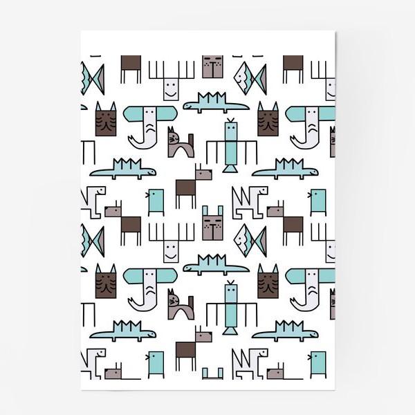 Постер « Геометрические животные »