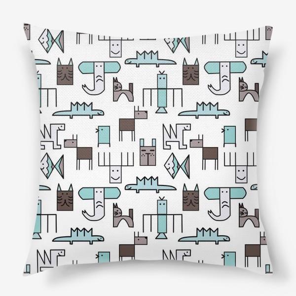 Подушка « Геометрические животные »