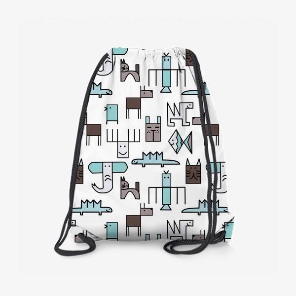 Рюкзак « Геометрические животные »