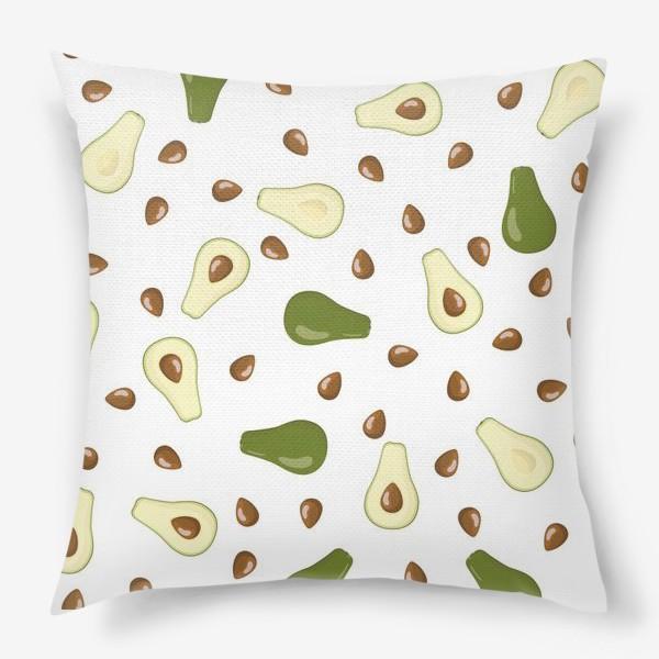 Купить подушку авокадо с косточкой в москве