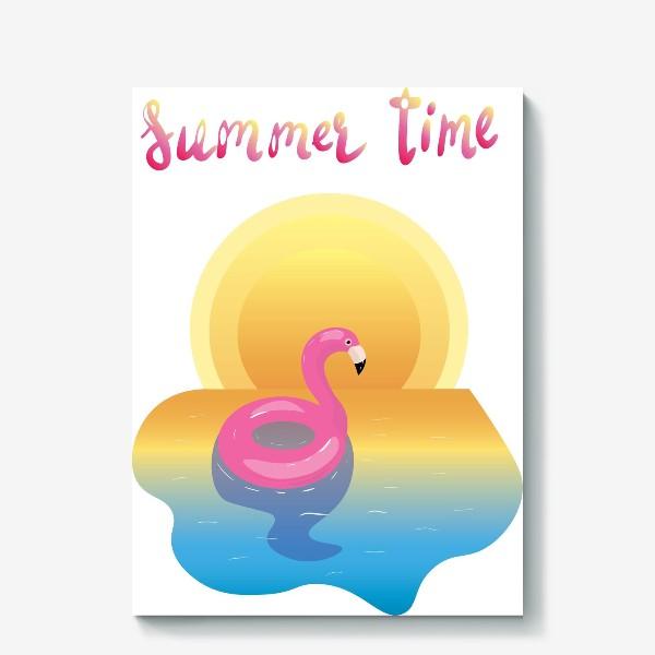 Холст «flamingo»