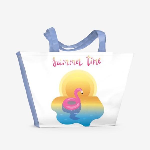 Пляжная сумка «flamingo»
