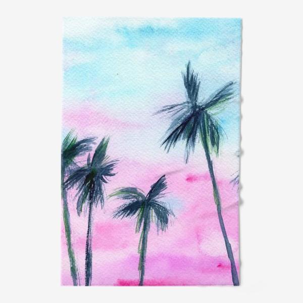 Полотенце «Закат в Майaми // акварель»