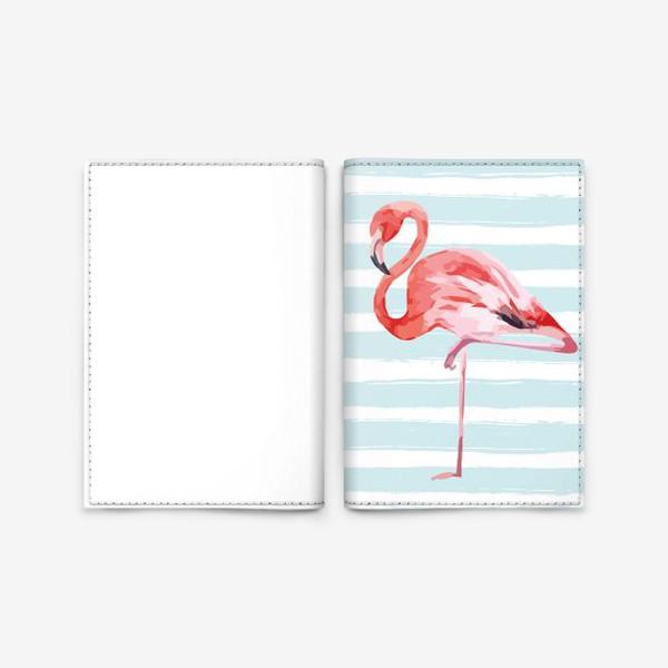 Обложка для паспорта «Фламинго»