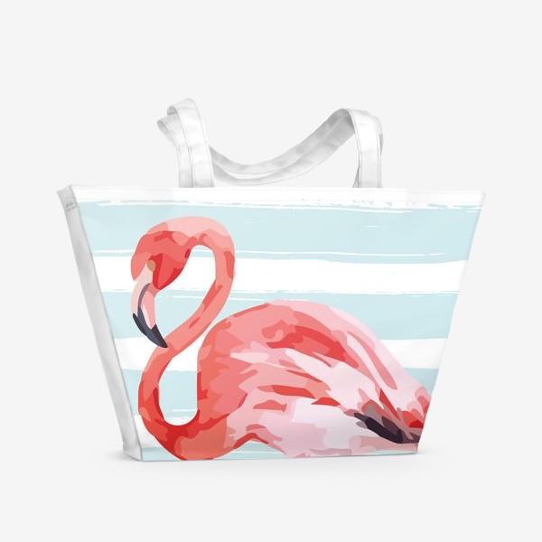 Пляжная сумка «Фламинго»