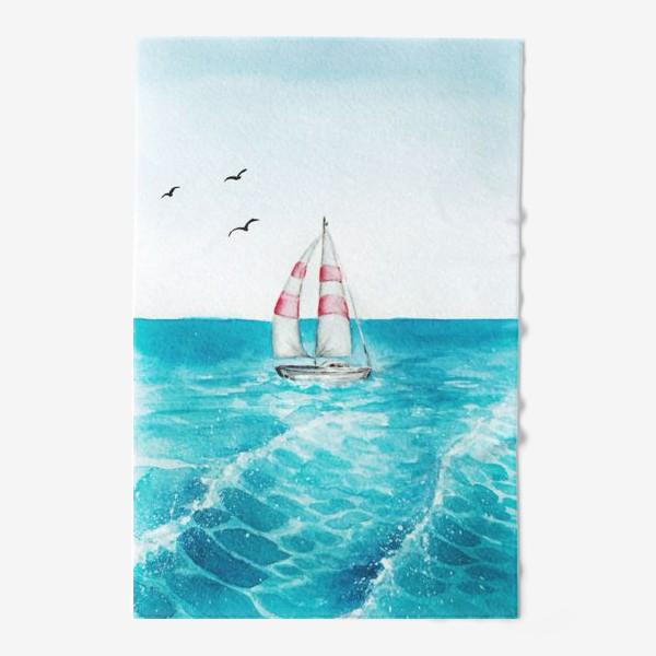 Полотенце «корабль в море»