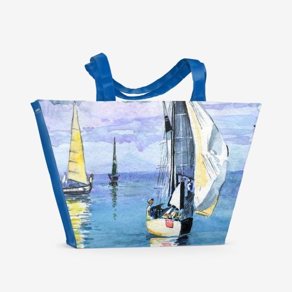 Пляжная сумка «Море. Яхты»
