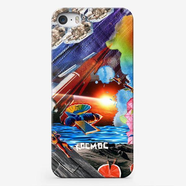 Чехол iPhone «Космос коллаж space»