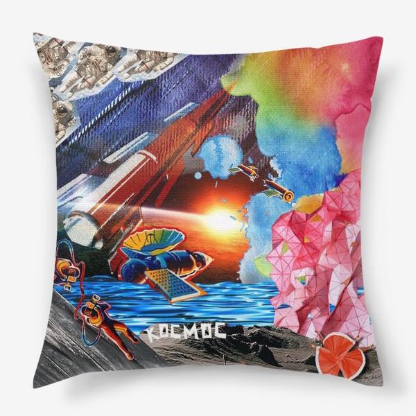 Подушка «Космос коллаж space»
