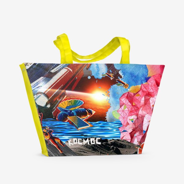 Пляжная сумка «Космос коллаж space»