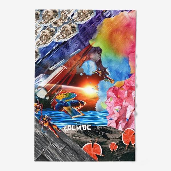 Полотенце «Космос коллаж space»