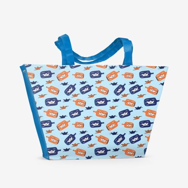 Пляжная сумка «Бумажные кораблики»