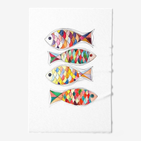 Полотенце «четыре  рыбы»