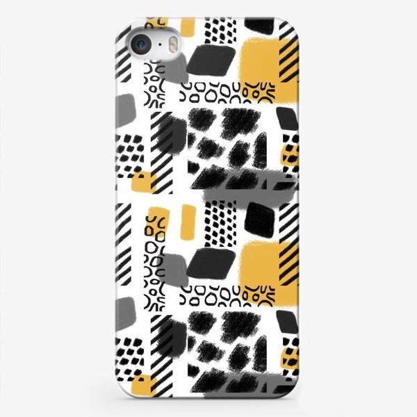 Чехол iPhone «Абстрактная черно-белая графика »