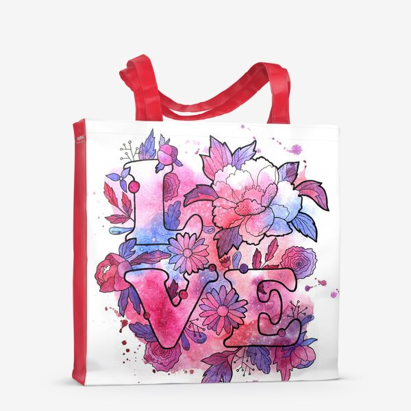 Сумка-шоппер «Любовь. Love. Акварель»
