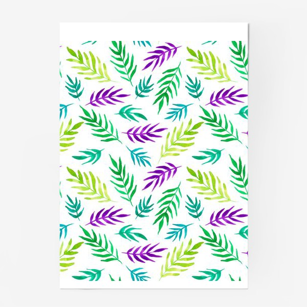 Постер «Тропический принт»