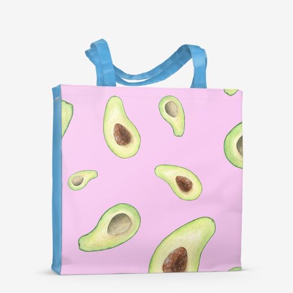 Сумка-шоппер «Авокадо на розовом фоне»
