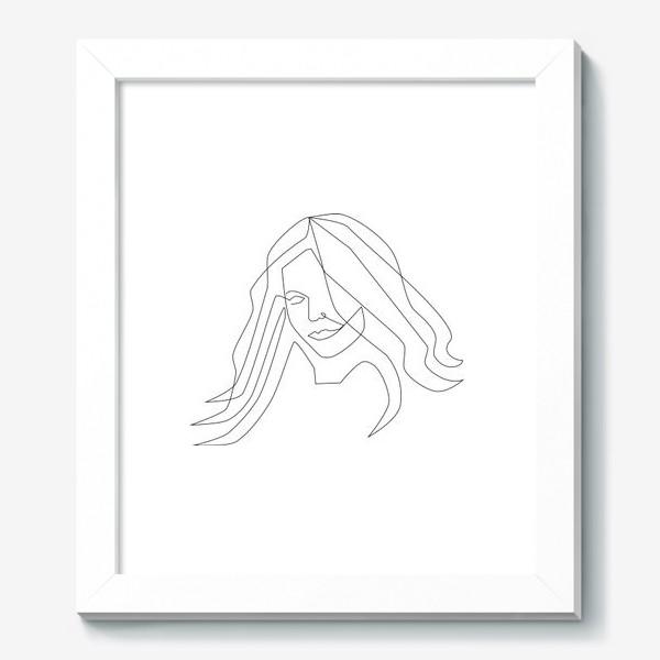 Картина «Девушка с длинными волосами»