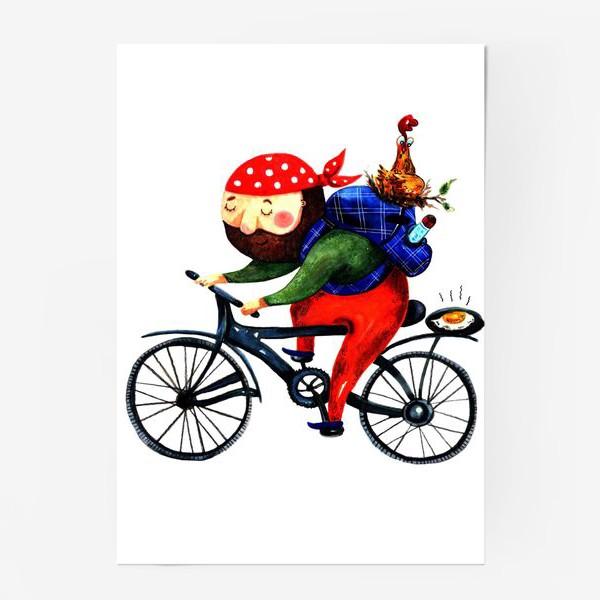 Постер «Суровый Велосипедист»