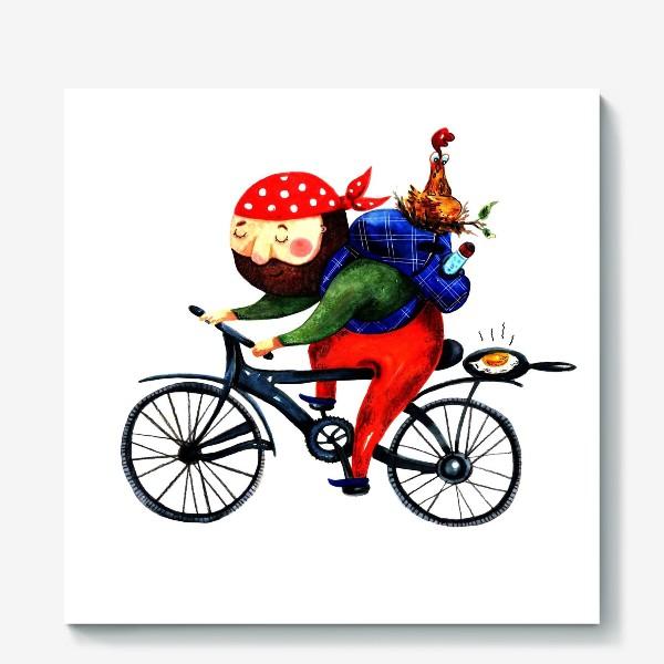Холст «Суровый Велосипедист»