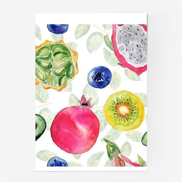 Постер «Сочные фрукты»