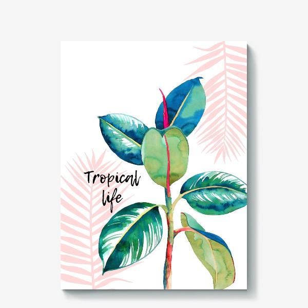 Холст «Тропический принт»