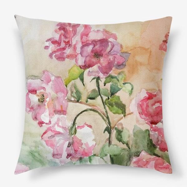 Подушка «Июньские розы»