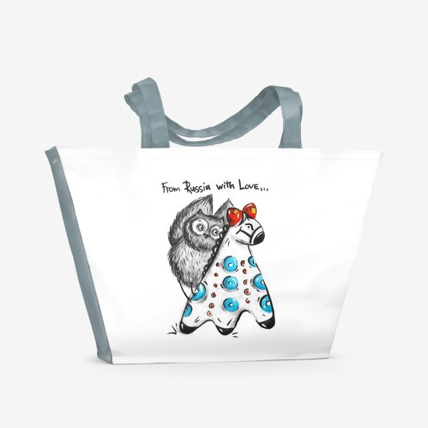 Пляжная сумка «Русская Сова»