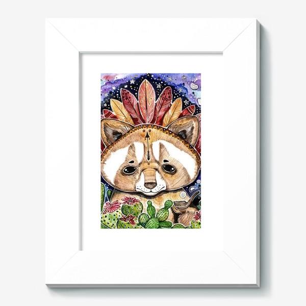 Картина «Енотик индеец. Енот альбинос и трубка мира . Мексиканец »