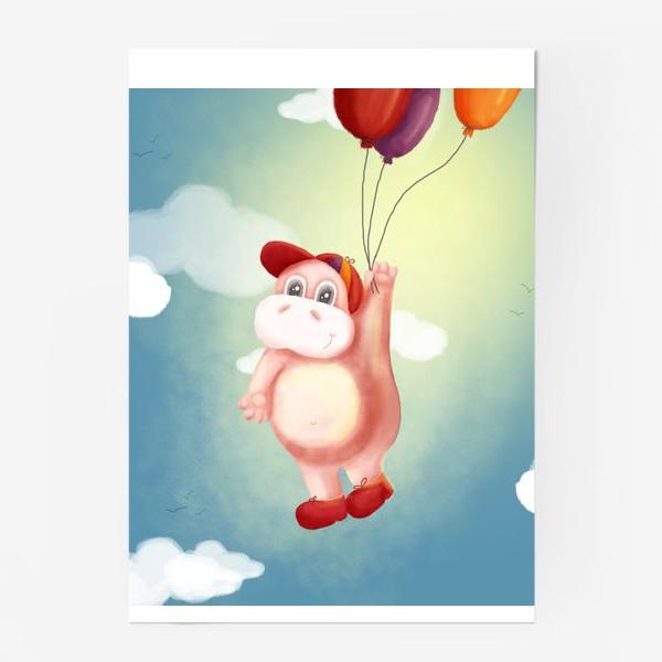 Постер «Бегемот с шариками»