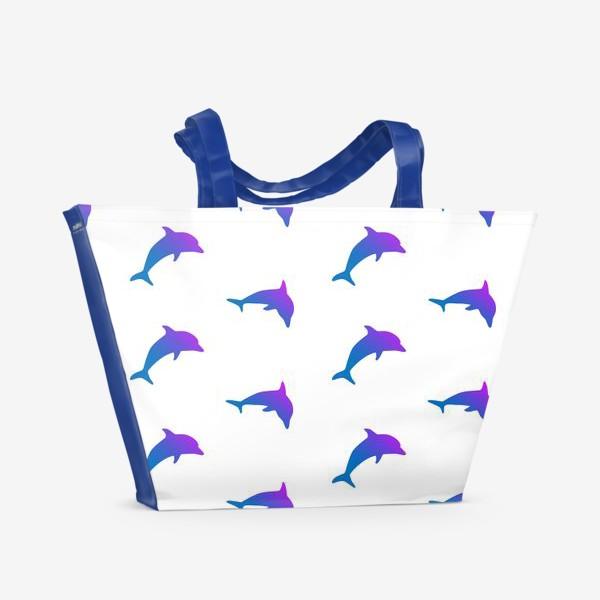 Пляжная сумка «Дельфины»